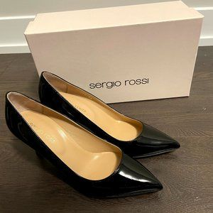 NEW Sergio Rossi Godiva patent-leather pump 36